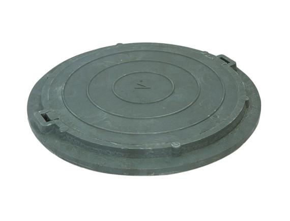 Полимерно-композитный канализационный люк, цвет зеленый, класс нагрузки 1,5т