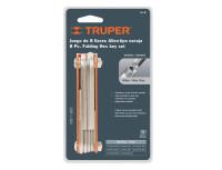 Складной набор шестигранных ключей Truper
