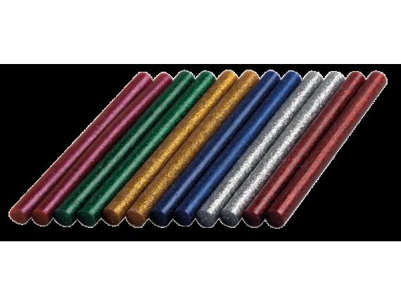 Цветные клеевые стержни с блестками Dremel 7 мм (GG04)