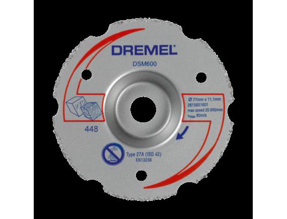 Многофункциональный твердосплавный отрезной круг Dremel DSM20 для резки заподлицо (DSM600)