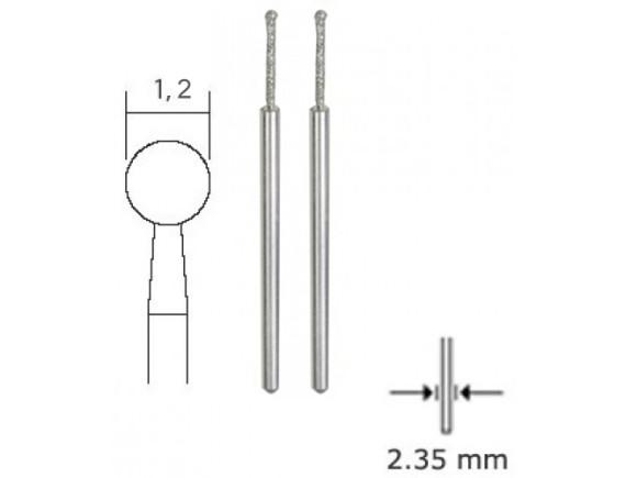 Бор с алмазным напылением Proxxon 1,2 мм для стекла и камня (28230)
