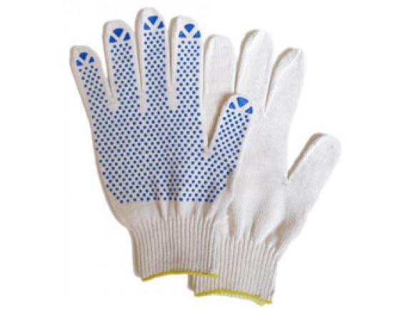 Рабочие перчатки трикотажные (белые)