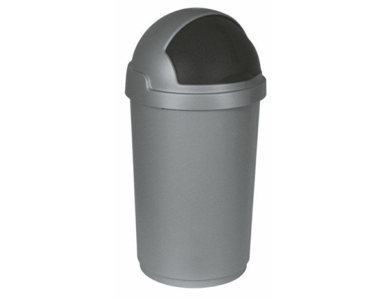"""Контейнер для мусора """"Буллет Бин"""" 50 л, серый/черный"""