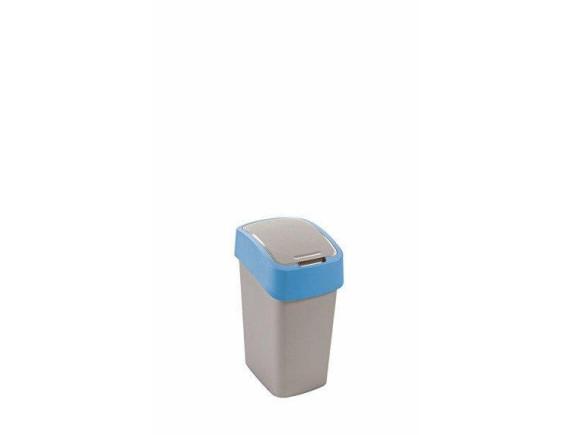 Контейнер для мусора Curver Flip Bin 10L (голубой)