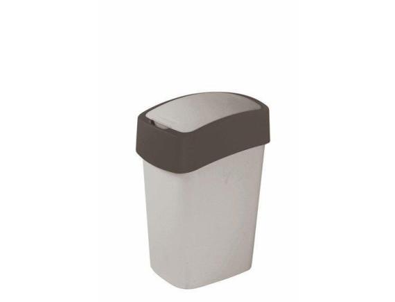 Контейнер для мусора Curver Flip Bin 10L (графит)