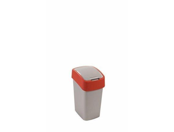 Контейнер для мусора Curver Flip Bin 10L (красный)