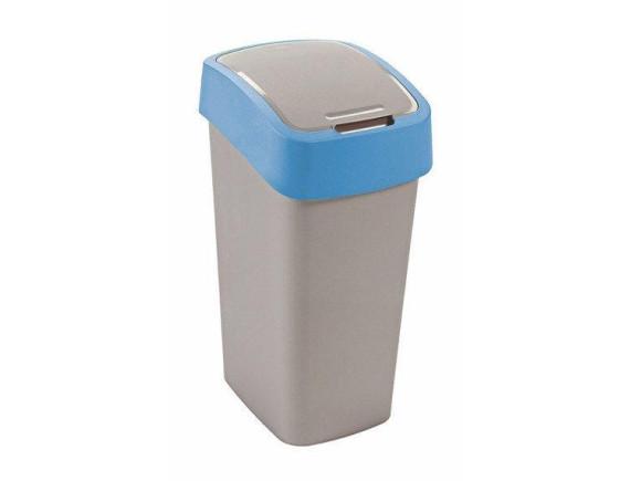 Контейнер для мусора Curver Flip Bin 50L (голубой)