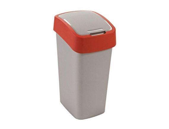 Контейнер для мусора Curver Flip Bin 50L (красный)