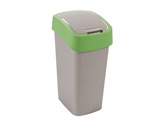 Контейнер для мусора Curver Flip Bin 50L (зеленый)