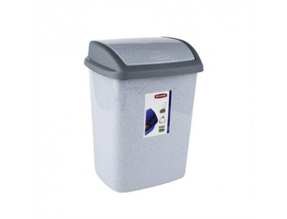 Контейнер для мусора Dominik 10 л, Refuse Bin Swing (ASS591) серый люкс/гранит