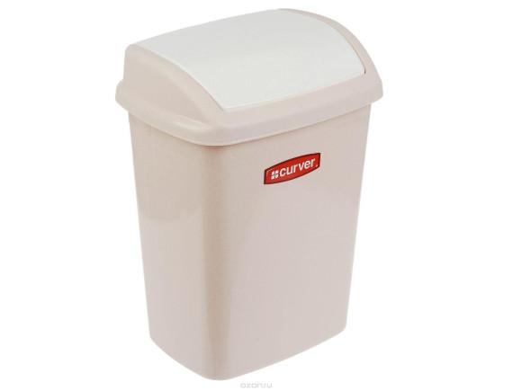 Контейнер для мусора Dominik 10 л, Refuse Bin Swing  (ASS844) бежевый/люкс