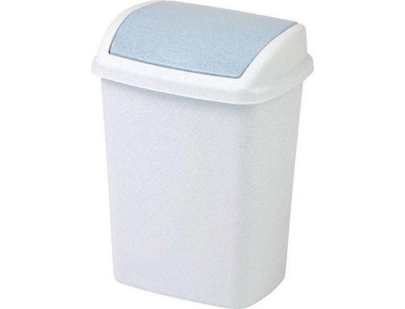 Контейнер для мусора Dominik 10 л, Refuse Bin Swing (ASS877) серебро/графит