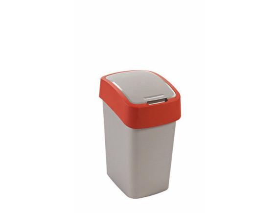 Контейнер для мусора Pacific Flip Bin 25 л, серый/красный