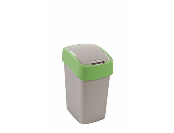 Контейнер для мусора Pacific Flip Bin 25 л, серый/зеленый