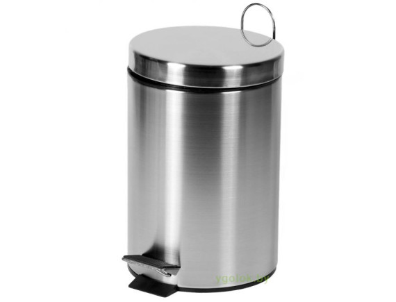 Ведро для мусора металлическое 7 л круглое матовое