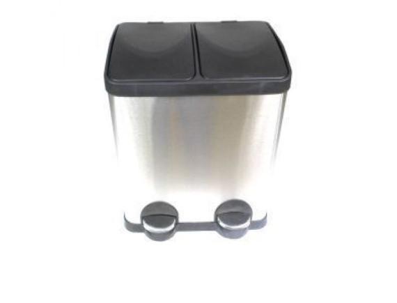 Ведро для мусора металлическое двойное 2х15 л Feniks