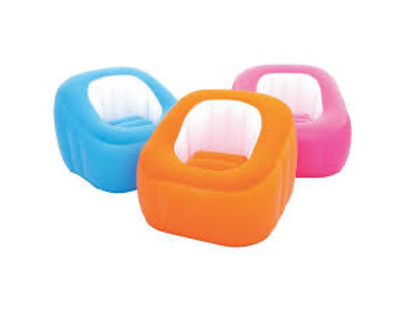 Кресло надувное Bestway Comfi Cube, 74х74х64см+ремкомплект