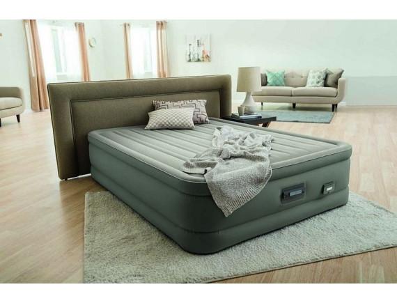 Надувная кровать со встроенным насосом QUEEN 152х203х46см Intex