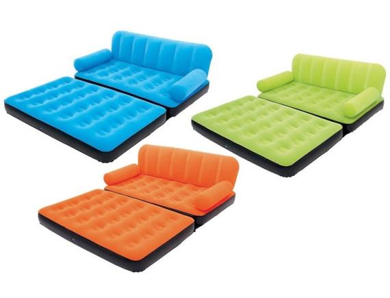 Надувной диван-кровать Bestway Multi-Max Air Couch, 188х152х64см+электронасос+сумка+ремкомплект