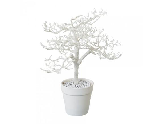 Дерево искусственное белое в горшке (28 см)