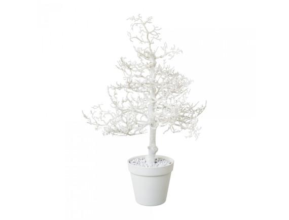 Дерево искусственное белое в горшке (44 см)