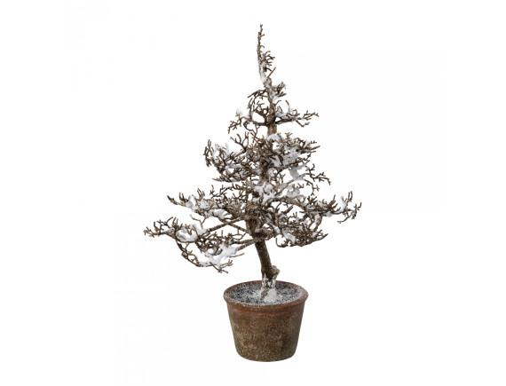 Дерево искусственное заснеженное в горшке (44 см)