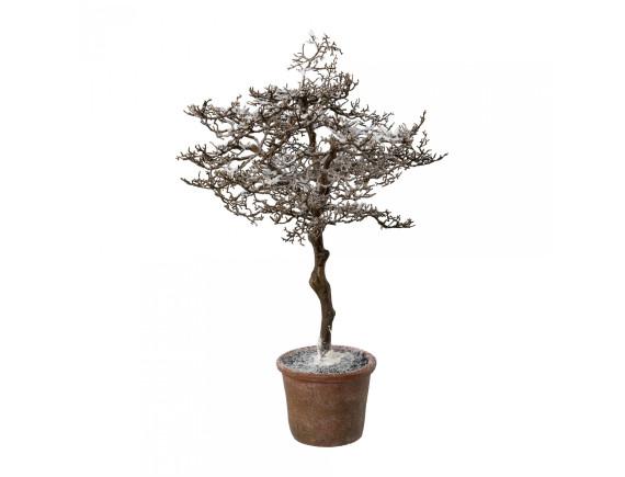 """Дерево искусственное """"Заснеженный граб"""" в горшке (62 см)"""