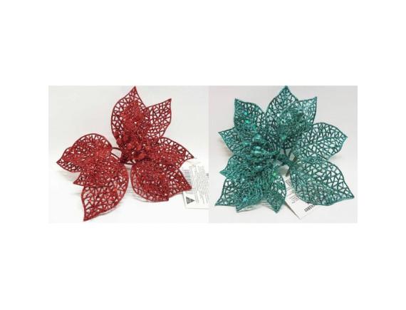 Новогоднее украшение Цветок 15 см