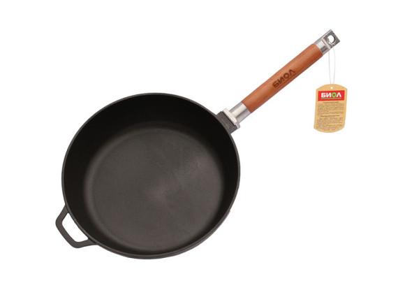 Сковорода чугунная cо съемной ручкой глубокая D-240 Биол