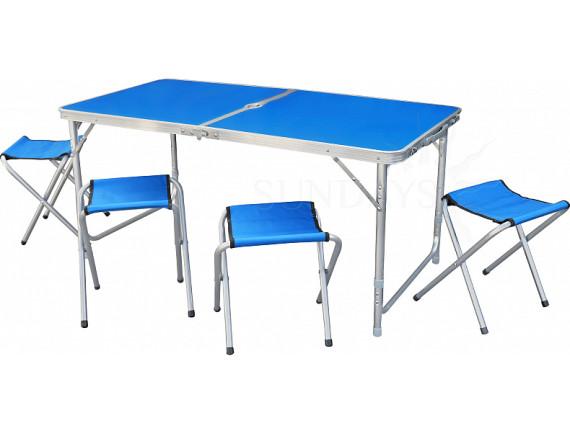 Набор туристической мебели Sundays (стол и 4 стула) SN-CC&T001 (голубой)