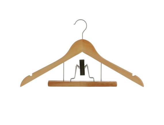 Вешалка-плечики с зажимом для брюк