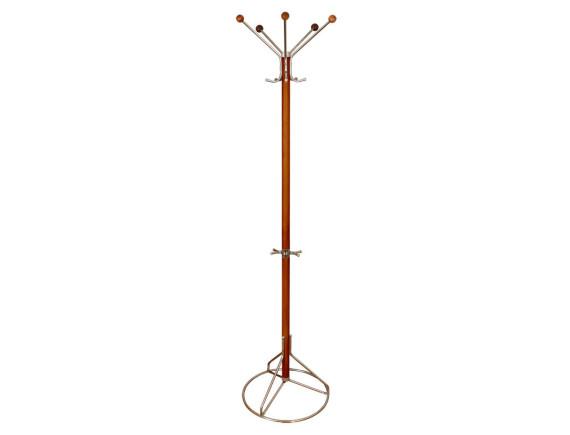 Вешалка напольная Стелла-1ДД (вишня) деревянная