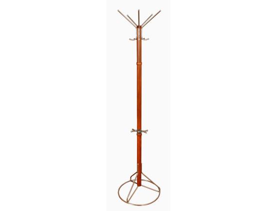 Вешалка напольная Стелла -1М (вишня) металлическая
