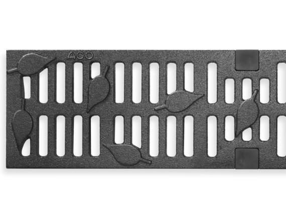 Чугунная решетка ACO Leaf для каналов Multiline V100 (С 250)