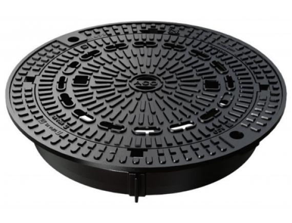Канализационный люк чугунный ACO CityTop P Bituplan 140 (круглый, 680мм)