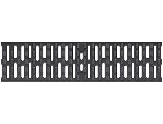 Решетка для каналов ACO Multiline V100 микрозахват (пластиковая, ширина щели 8мм)