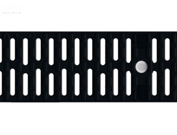 Решетка для каналов ACO Multiline V100 (пластиковая, черная)