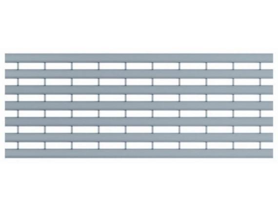 Решетка для каналов ACO Multiline V100 Q с продольными перемычками (оцинкованная)