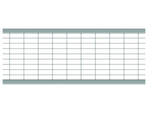 Решетка для каналов ACO Multiline V100 Q ячеистая (оцинкованная, В 125)