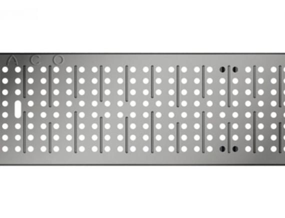 Решетка для каналов ACO Multiline V100 перфорированная (оцинкованная, A 15)