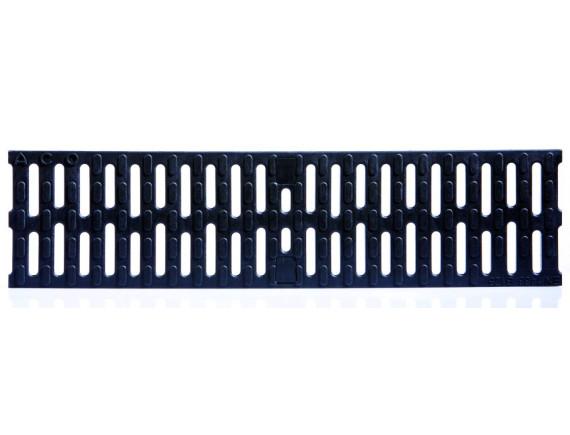 Решетка для каналов ACO Multiline V100 (пластиковая, ширина щели 8мм)