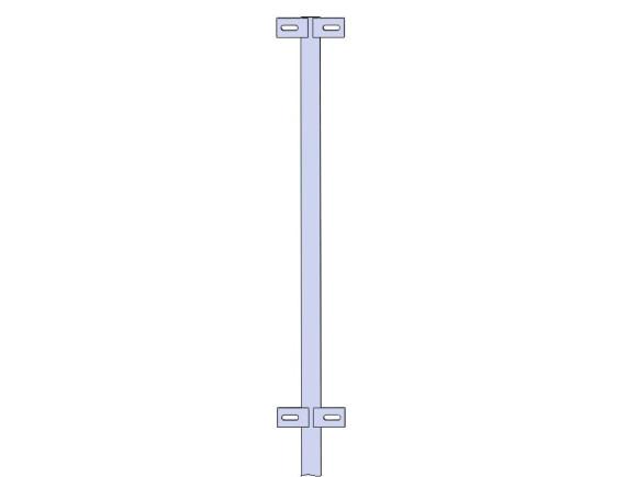 Столб средний для пешеходного ограждения