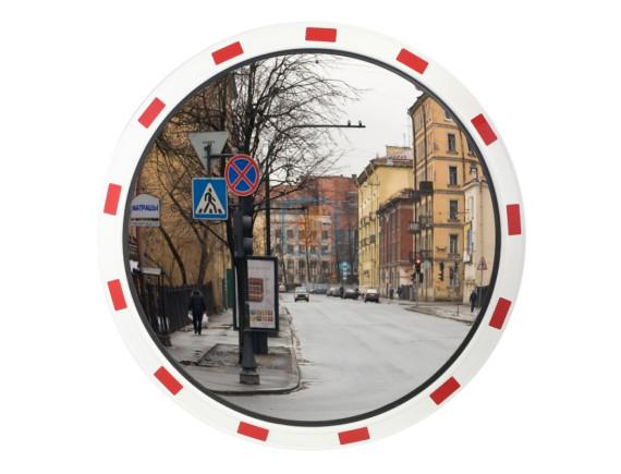 Зеркало дорожное со светоотражающей окантовкой круглое