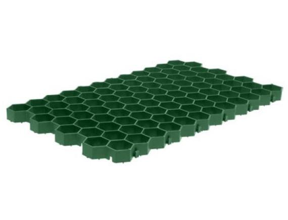 Решетка газонная зеленая с ячейкой сота