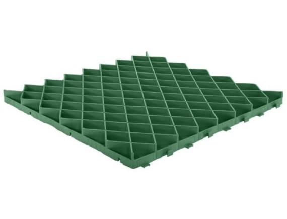 Решетка газонная зеленая с ячейкой ромб