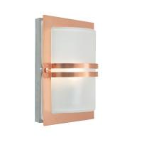 Уличный настенный светильник Norlys Basel Copper (матовое стекло)