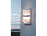 Уличный настенный светильник Norlys Basel Galvanized (матовое стекло)