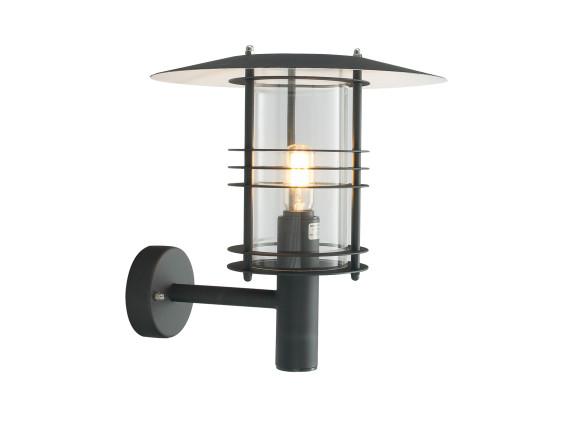 Настенный уличный светильник Norlys Stockholm Black (большой)