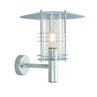 Настенный уличный светильник Norlys Stockholm Galvanized (большой)