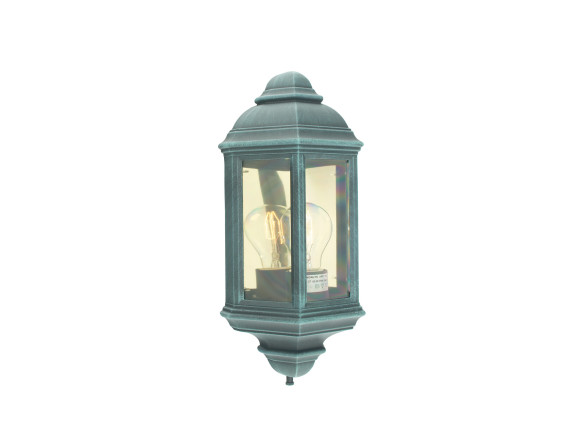 Уличный настенный светильник Norlys Roma Black Green